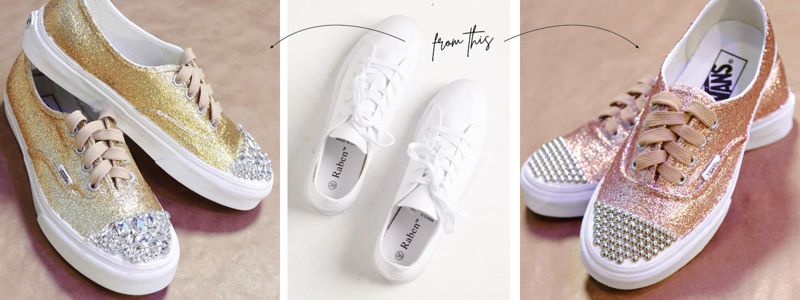DIY Tutorial How to Sequin my Sneakers
