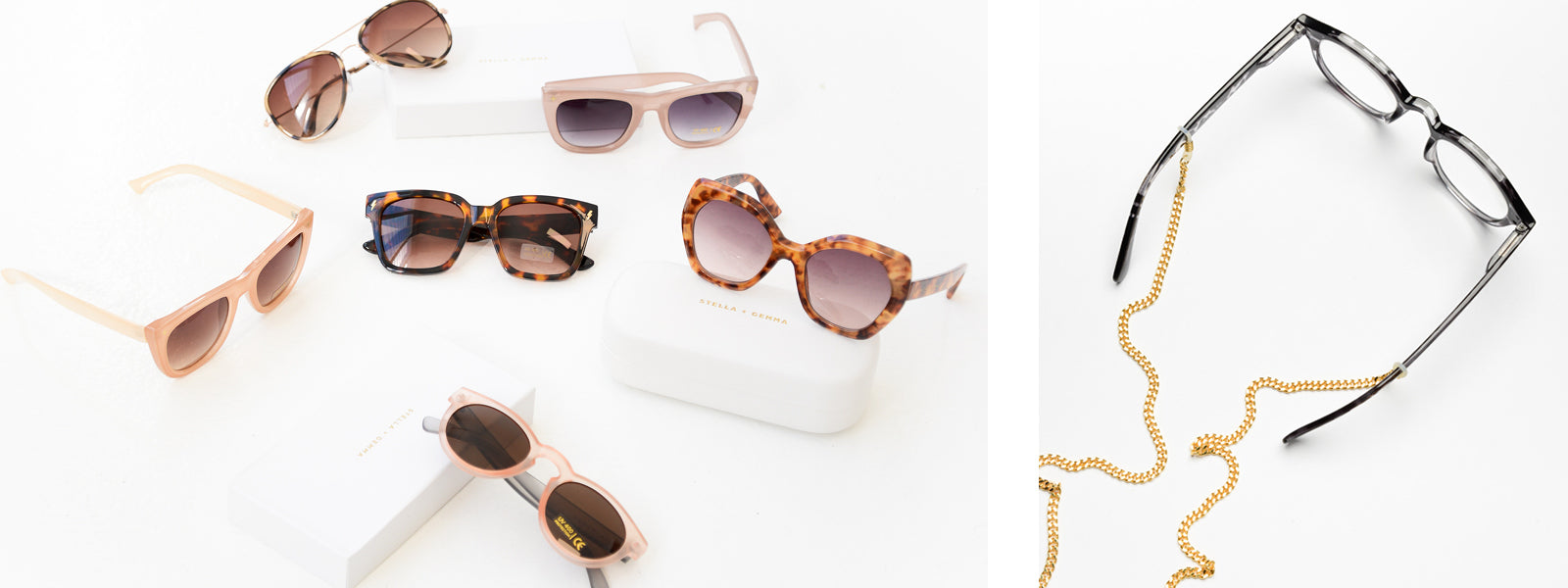 Sunglasses and glasses chains for travel