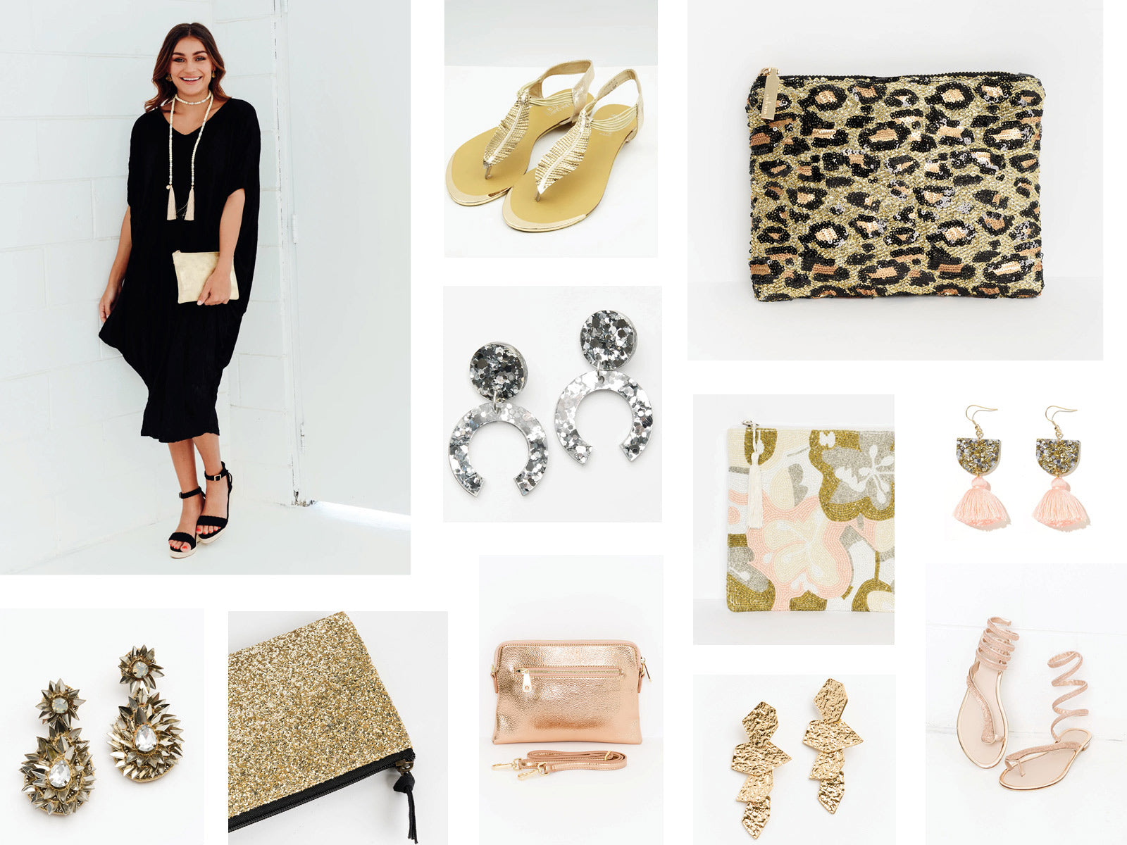 Statement Gold Silver Metallic Accessories