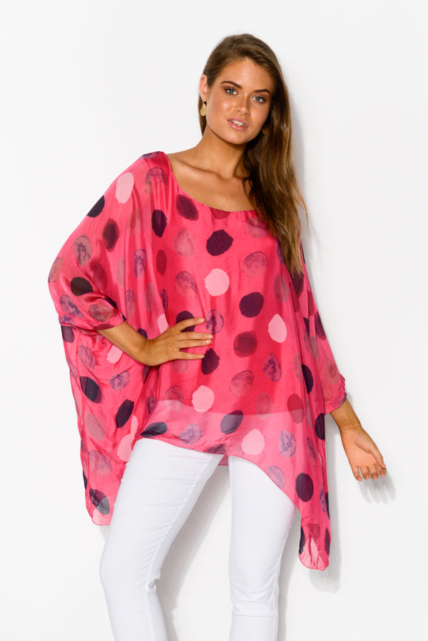 Pink Spotty Layered Top - Blue Bungalow