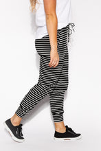 Black Stripe Travel Tie Pant - Blue Bungalow