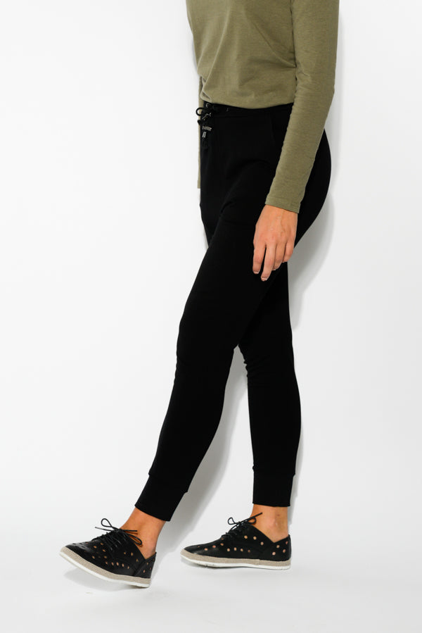 Heidi Black Cotton Lounge Pant - Blue Bungalow