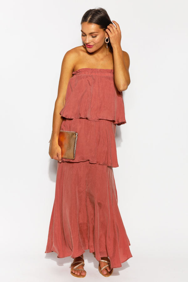 Rose Three Way Frill Cupro Dress