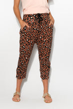Leopard 3/4 Cotton Slouch Pant - Blue Bungalow