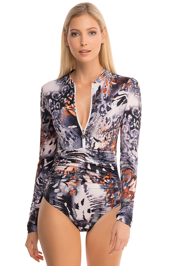 Prendimi Emma Sleeved One Piece - Blue Bungalow