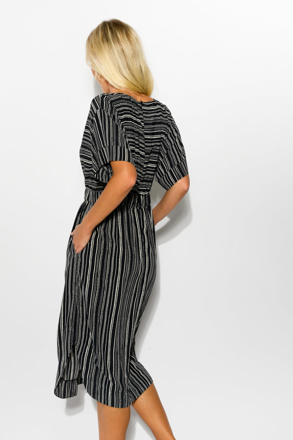 Britt Black Stripe Dress