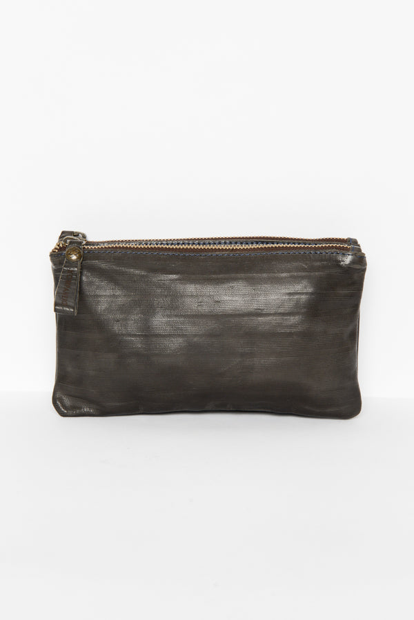 Cosmos Leesa Leather Clutch - Blue Bungalow