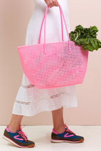 Shelly Pink Recycled Woven Tote - Blue Bungalow