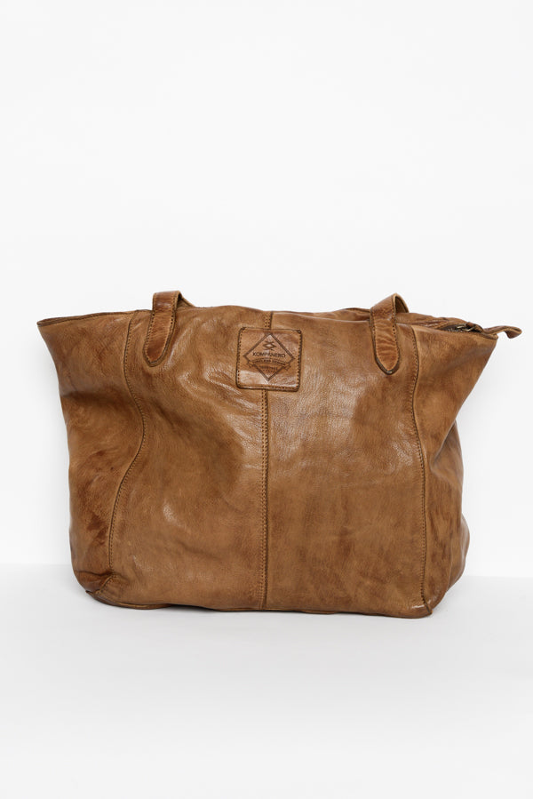 Nina Tobacco Leather Bag