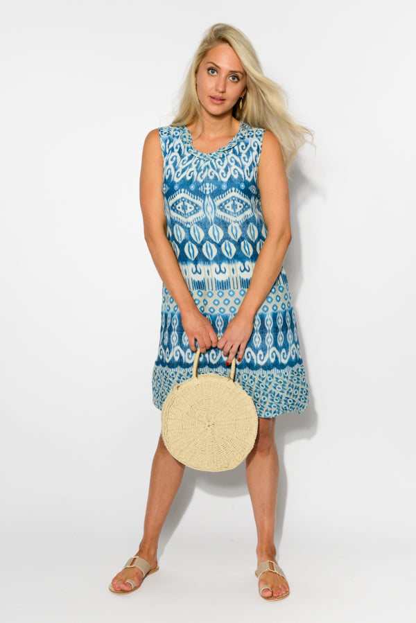 Turin Cotton Tank Dress - Blue Bungalow