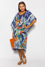 Costa Azzur Floral Cotton Kaftan