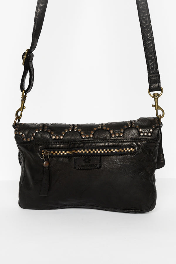 Black Gisele Leather Sling Bag