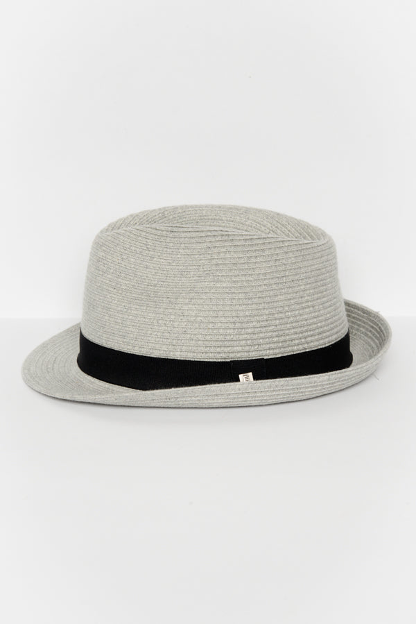 Grey Travel Trilby Hat