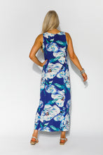 Blue Water Lily Maxi Dress - Blue Bungalow