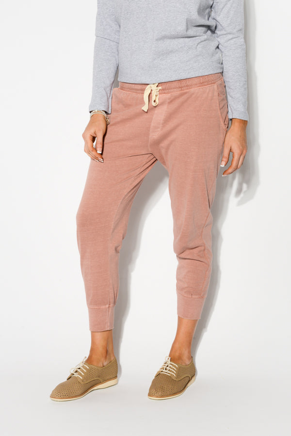 Pink Cotton Washed Out Pant - Blue Bungalow