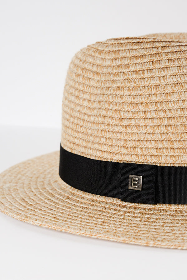 Natural Travel Fedora - Blue Bungalow