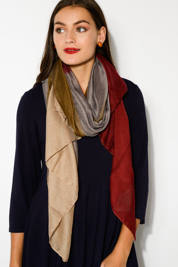 Wine Bordeaux Scarf - Blue Bungalow