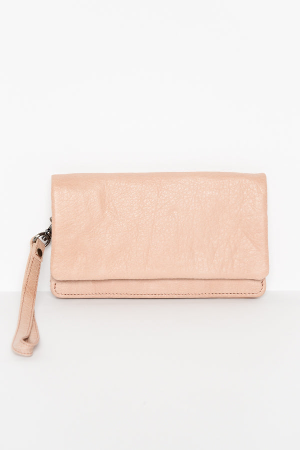 Albury Blush Leather Wallet - Blue Bungalow