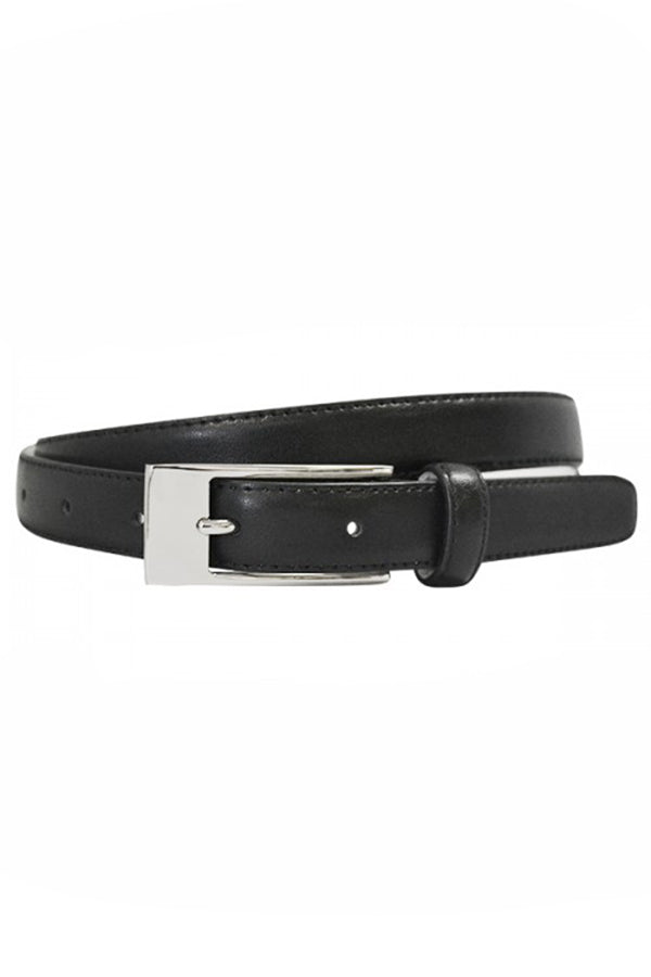 Deaneen Black Leather Belt - Blue Bungalow