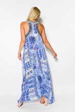 Ios Blue Silk Razor Dress - Blue Bungalow