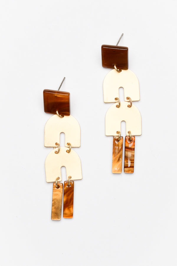 Long Island Amber Earring