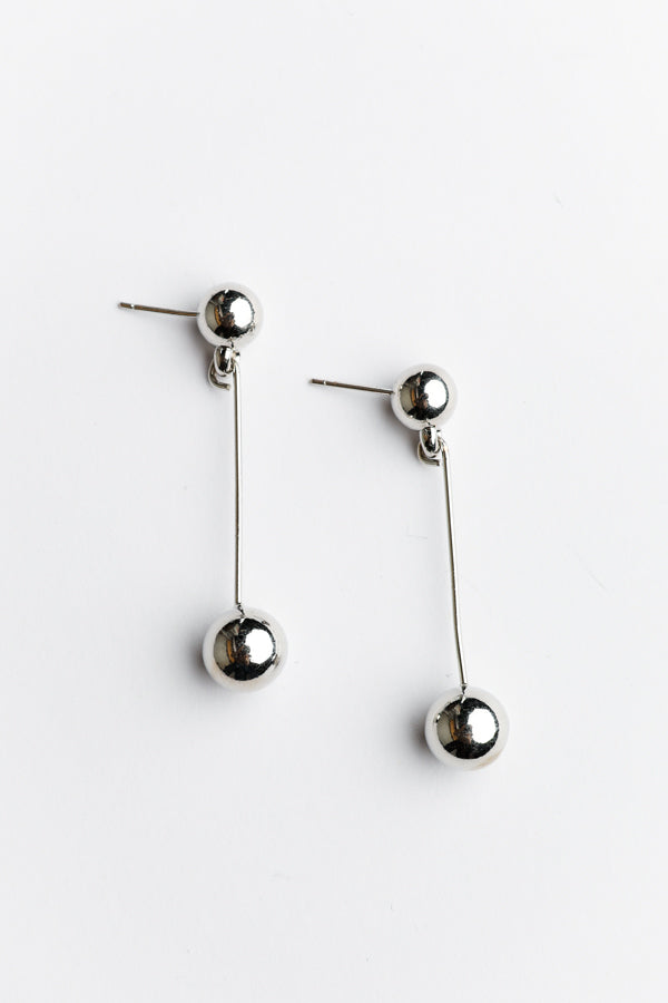 Acala Silver Ball Drop Earring