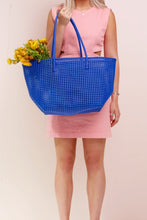 Shelly Cobalt Recycled Weave Tote - Blue Bungalow