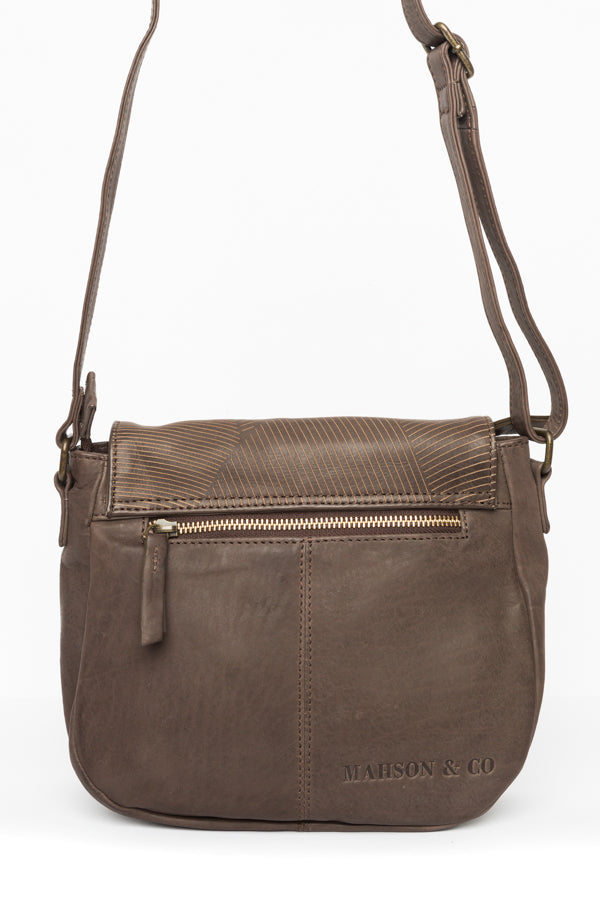 Gina Chocolate Leather Bag - Blue Bungalow