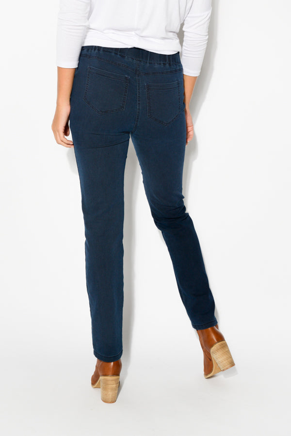Frankie Blue Stretch Jean - Blue Bungalow