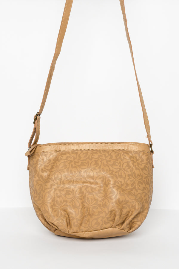Bronzy Tan Abbey Leather Sling Bag - Blue Bungalow