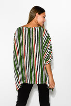 Green Multi Stripe Drape Top - Blue Bungalow