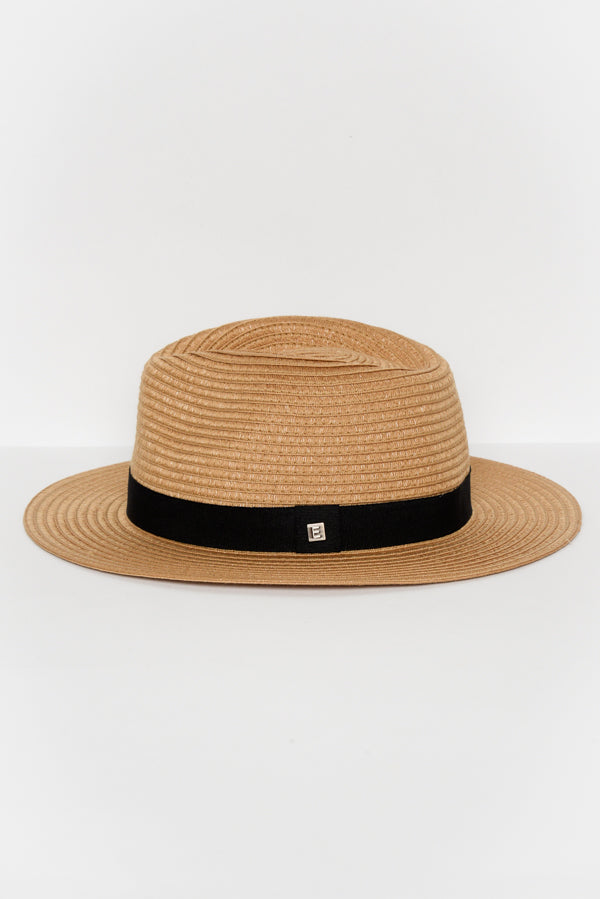 Caramel Travel Fedora - Blue Bungalow