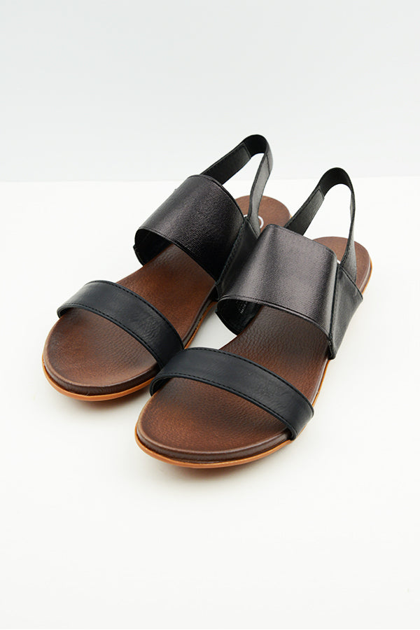 Black Harna Sandals - Blue Bungalow