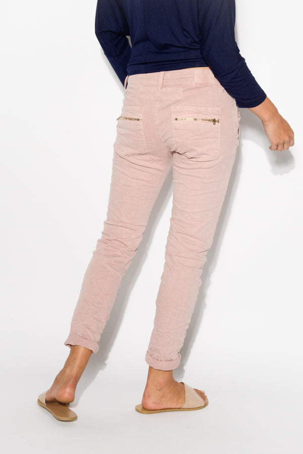 Pink Cotton Stretch Jean