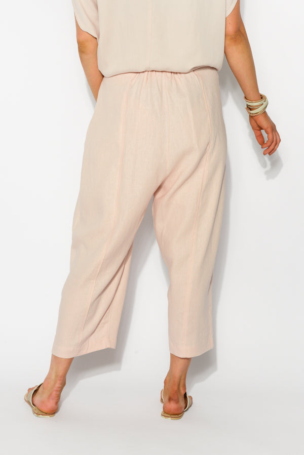 Blush Pleat Front 7/8 Pant - Blue Bungalow