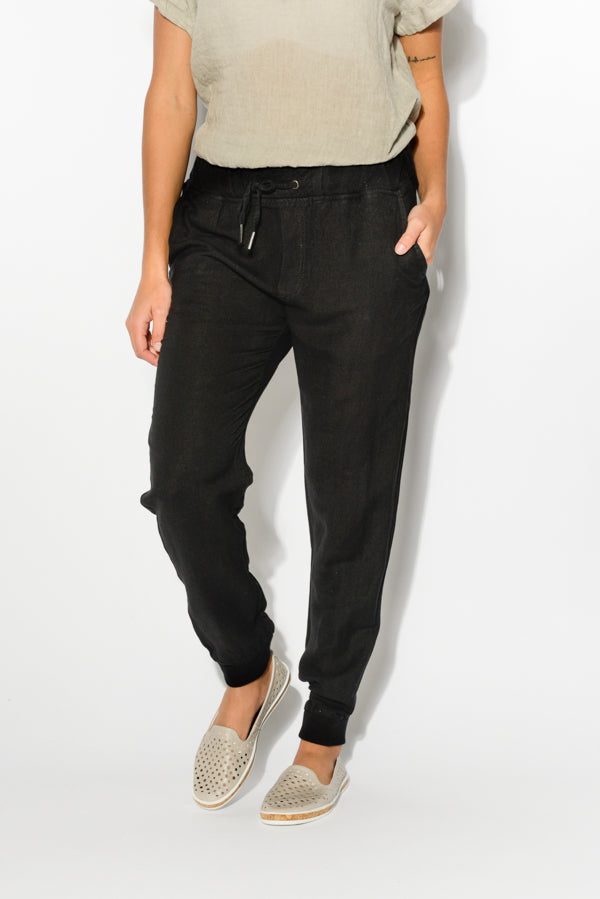 Ellie Black Jogger Pant - Blue Bungalow