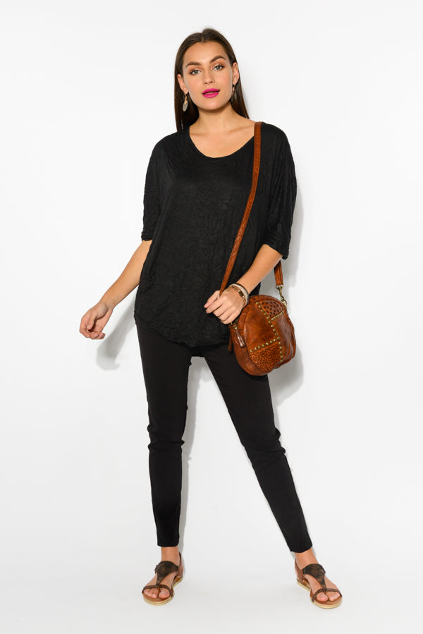 Black Stella Cotton Top