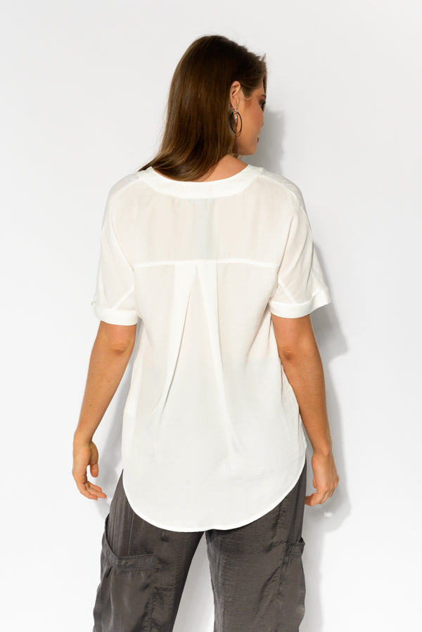 Around Town White Blouse - Blue Bungalow