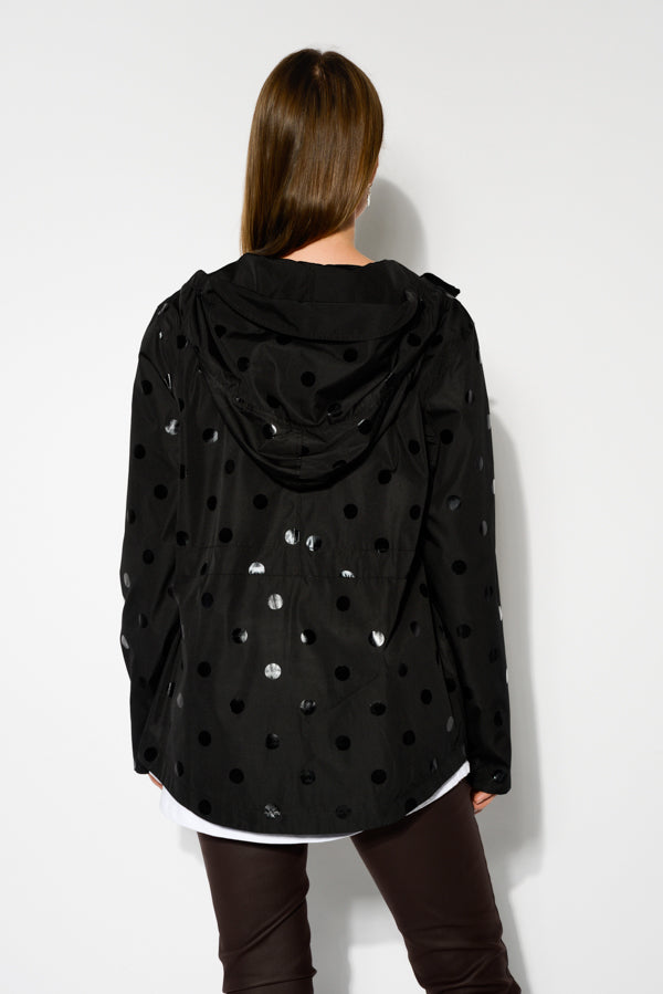Black Metallic Reversible Spotty Jacket