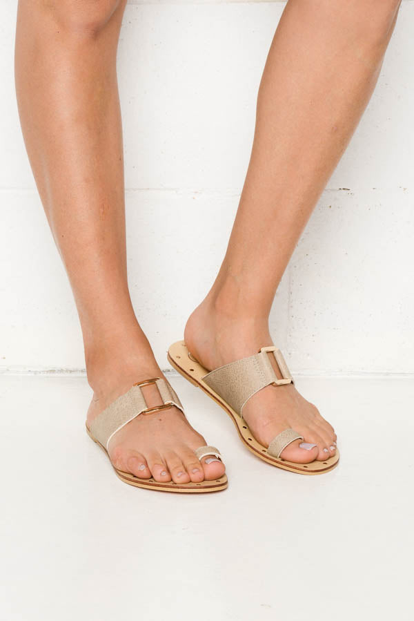 Taupe Sarsh Sandals - Blue Bungalow