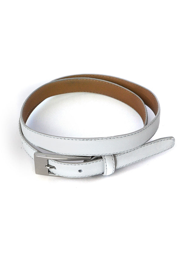 Deaneen Grey Leather Belt - Blue Bungalow