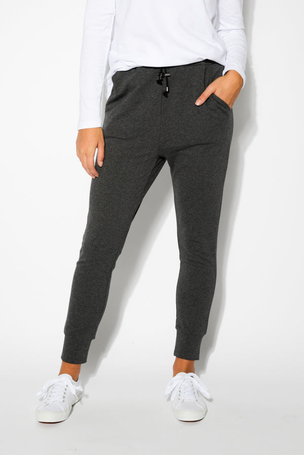 Heidi Charcoal Cotton Lounge Pant - Blue Bungalow