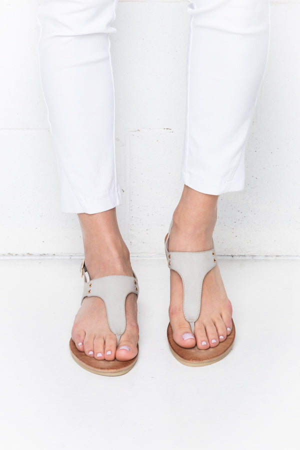 Khanita Grey Sandals - Blue Bungalow