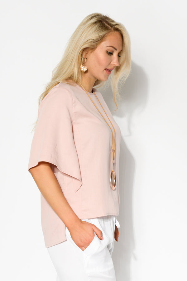 Pink Split Sleeve Top - Blue Bungalow