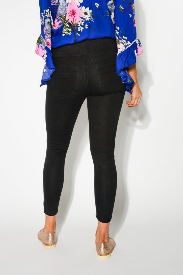 Black 7/8 Stretch Jean