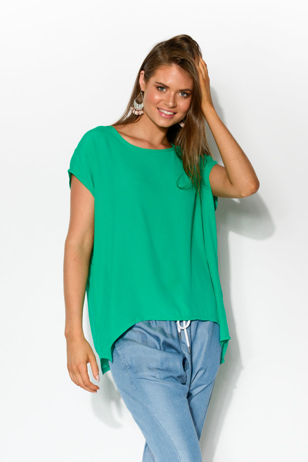 Green Shell Top - Blue Bungalow