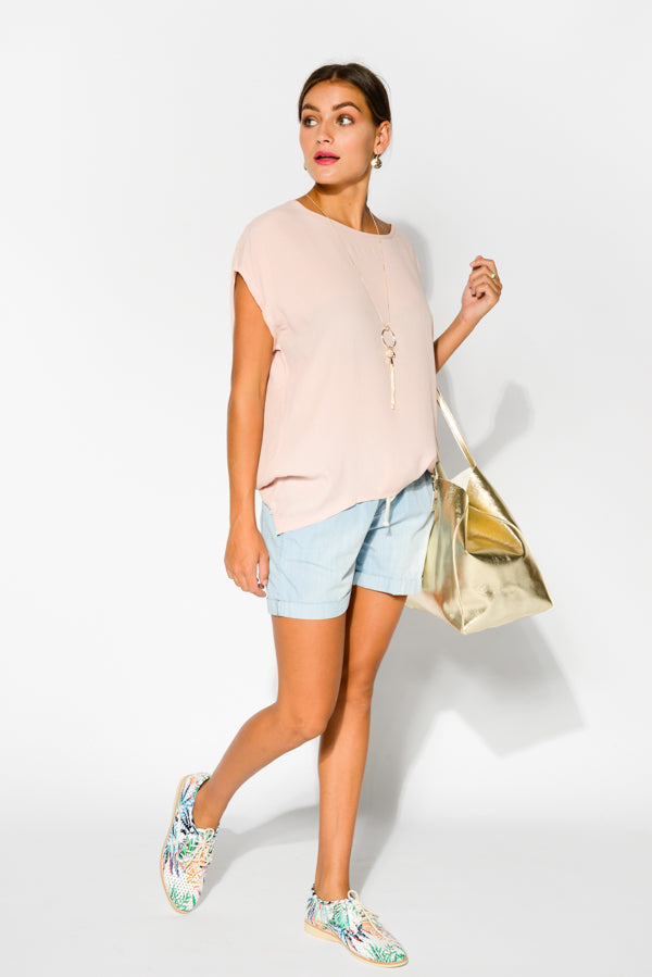Musk Shell Top - Blue Bungalow