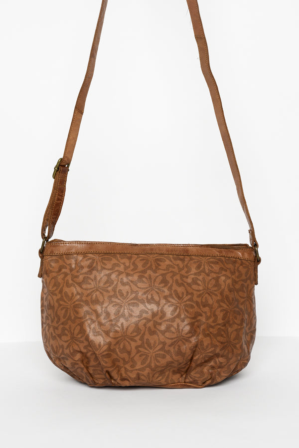 Cognac Abbey Leather Sling Bag - Blue Bungalow