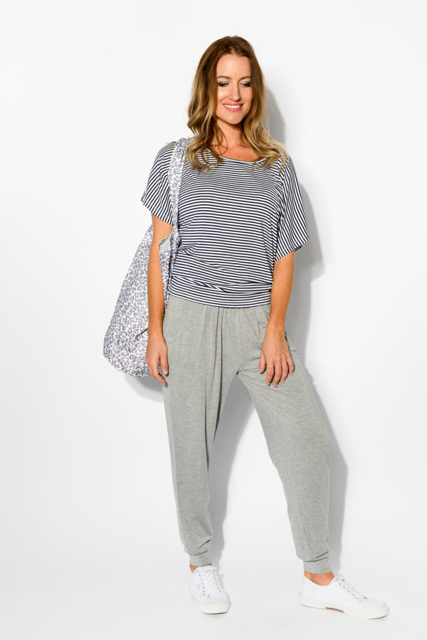 Grey Marle Weekend Pant - Blue Bungalow