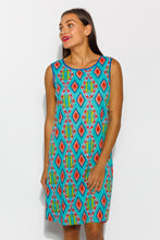 Lombardy Reversible Cotton Dress - Blue Bungalow